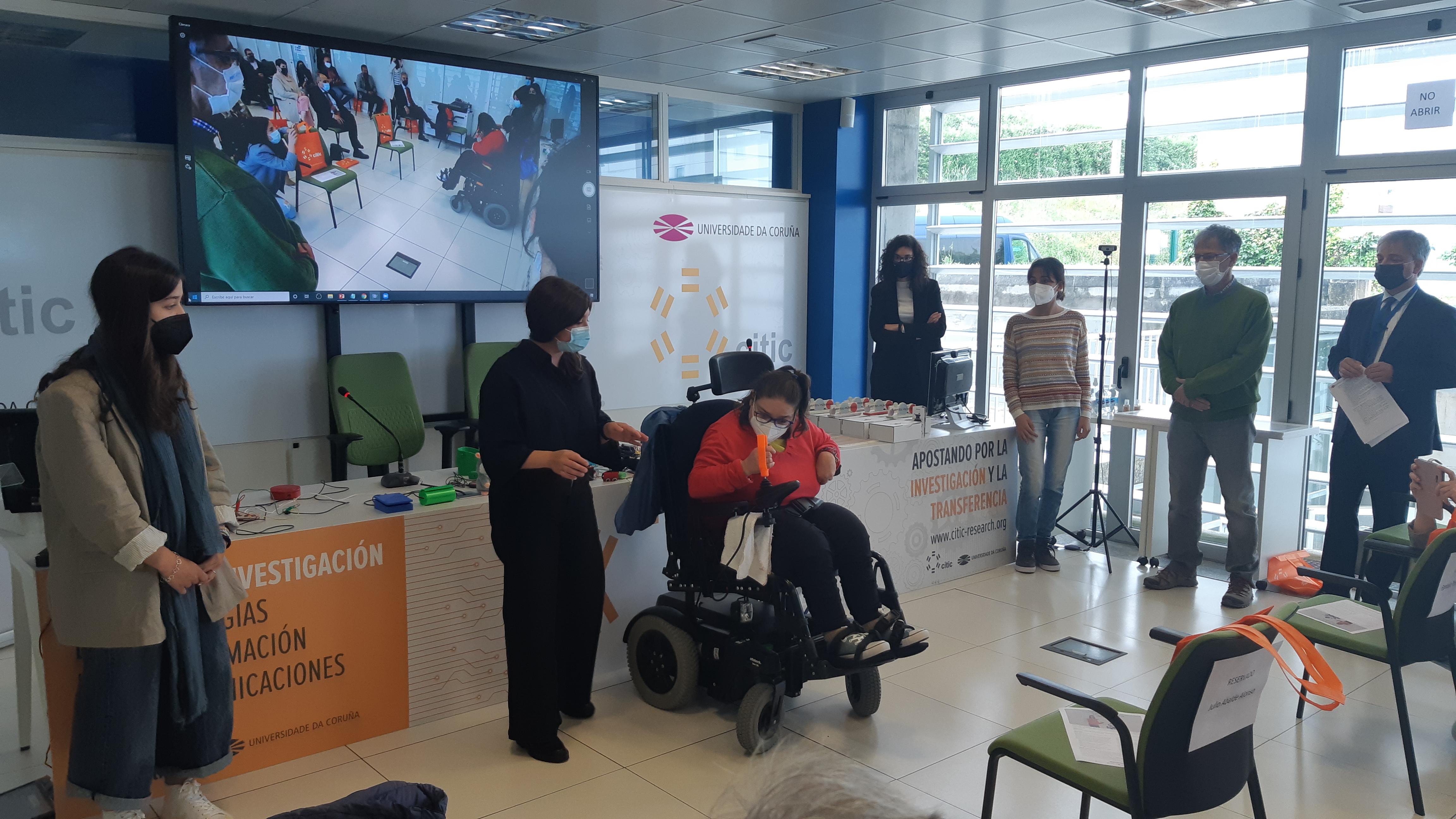 El Centro de Investigación TIC (CITIC) de la Universidade da Coruña recibe del CPEIG el Premio Innovación Tecnológica en la Enseñanza por su proyecto 'Talentos Inclusivos'