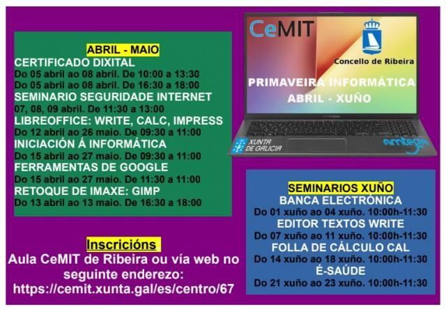 El aula CEMIT de Ribeira organiza cursos sobre la seguridad en la Red y banca electrónica