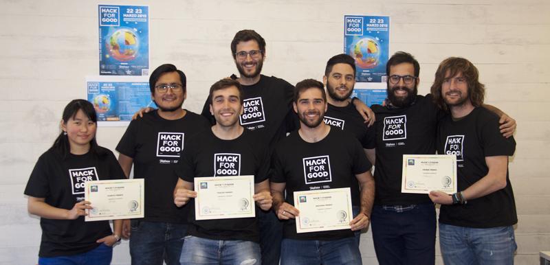 Ganadores del HackForGood2019, el hackaton que utiliza la tecnología para desarrollar soluciones a retos sociales.