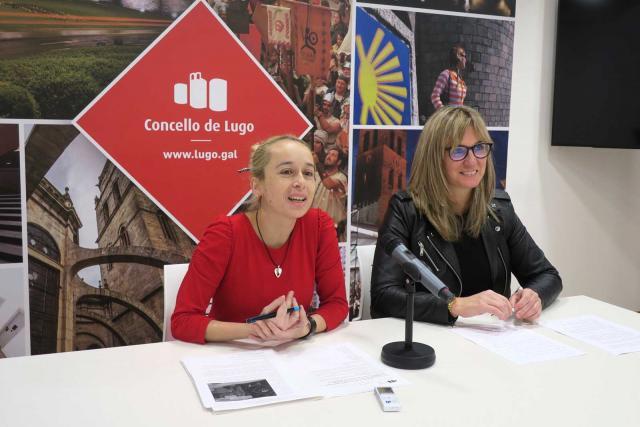 As concelleiras en funcións Rosana Rielo e Ana Prieto nunha rolda de prensa recente.