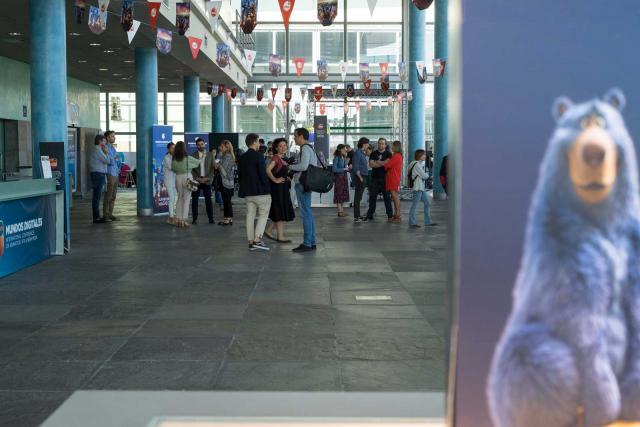 Interior da sede de Mundos Digitales.
