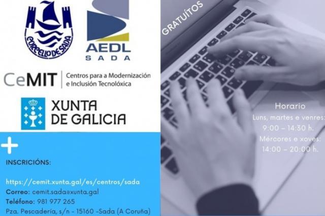 En Sada la ciudadanía podrá formarse estos meses en eAdministración, facturas electrónicas y ofimática
