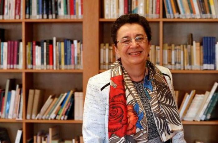 Rosario Álvarez, presidenta do Consello da Cultura Galega, nunha imaxe de Antonio Hernández para El Correo Gallego.