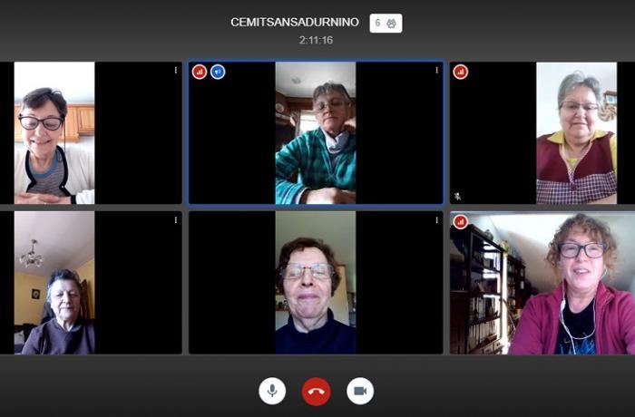 Videoconferencia de las usuarias del aula CeMIT de San Sadurniño.