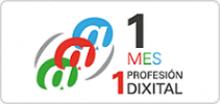 Logo 1 mes 1 profesión dixital