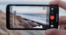 Smartphone gravando un vídeo.