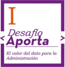 """Logo I Desafío """"Aporta""""."""