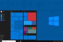 Menú inicio de Windows 10.