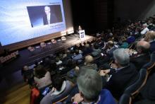O conselleiro de Economía, Emprego e Industria, Francisco Conde, participou esta mañá, en Santiago de Compostela, na quinta xornada de 'O mundo que vén'.