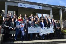 Ganadores y asistentes a la ceremonia de entrega de premios de D3Mobile 2018 en la EPS de Ingeniería de Lugo.