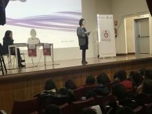 Patricia Argerey durante su charla.