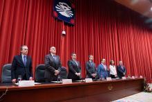 Toma de posesión del nuevo rector de la Universidade da Coruña.