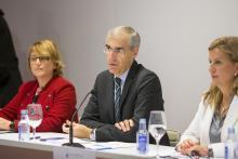 O conselleiro de Economía participou hoxe no acto de presentación de Alastria en Galicia.