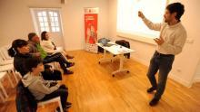 Un intre da sesión de Navega con Rumbo celebrada na Coruña/ Imaxe de Pedro Puig para El Ideal Gallego.