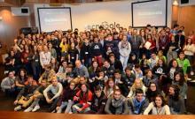 Fotografía de grupo dos participantes en Galiciencia 2016