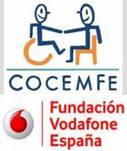 Logos COCEMFE e Fundación Vodafone España
