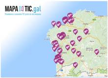 Mapa de Capacidades Tecnolóxicas de Galicia.