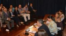 Arévalo e Soto, nunha reunión con colectivos asociativos.