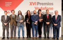 Galardoados cos XVI Premios de Periodismo da Fundación Vodafone España.