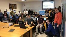As e os participantes na Hash Code Ourense 2020.