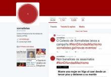 Captura do Twitter do Colexio Profesional de Xornalistas de Galicia.