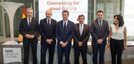 Sinatura do convenio con Vodafone España