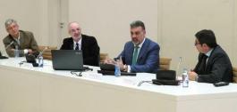 O director xeral de Orientación e Promoción Laboral, Alfonso Marnotes, hoxe en Santiago nun encontro que mantivo cos axentes do sector TIC galego.