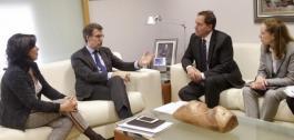 O presidente da Xunta recibiu ao conselleiro delegado de Orange España.