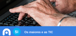 "Portada do informe ""Os Maiores e as TIC""."