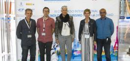Nava Castro con outros participantes nas xornadas celebradas en Málaga.