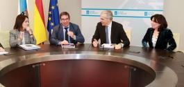 O conselleiro de Economía, Emprego e Industria e a directora da Amtega mantiveron un encontro de traballo co presidente do Clúster TIC.