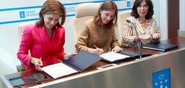 Sinatura do acordo entre a Xunta e Microsoft.