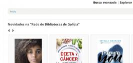 Pantallazo da web da rede de bibliotecas públicas de Galicia.