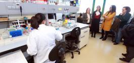 Carmen Pomar, mantivo hoxe unha reunión de traballo cun grupo de investigadoras galegas.