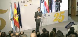 O titular do Goberno galego visitou as instalacións do Centro de Supercomputación de Galicia-CESGA con motivo do seu XXV aniversario.