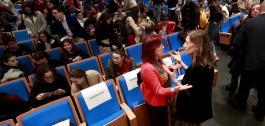 A conselleira participou no congreso da Axencia Espacial Escolar Galega NOSA.