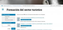 Pantallazo da web de Turismo.
