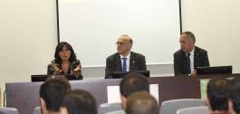 Mar Pereira na inauguración do primeiro Curso de Especialista Universitario en 5G de Galicia.