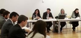 Xuntanza de traballo coas empresas asinantes do Pacto Dixital de Galicia.