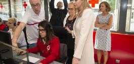 Visita ao Centro de Coordinación da Cruz Vermella.