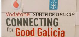 Cartel de Vodafone Connecting for Good Galicia.